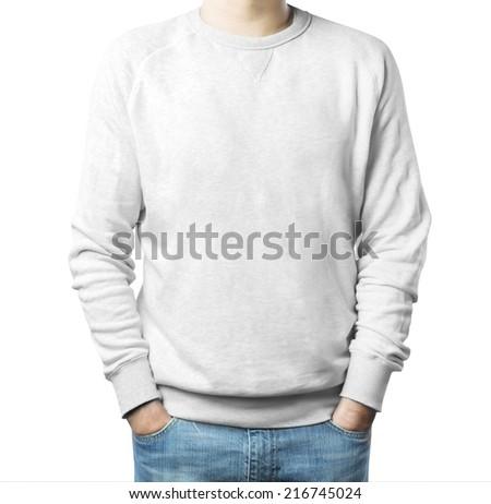 Man sweatshirt - stock photo