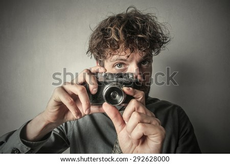 Man taking a picture