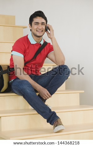 Man talking on a mobile phone - stock photo