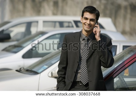 Man talking on the phone - stock photo
