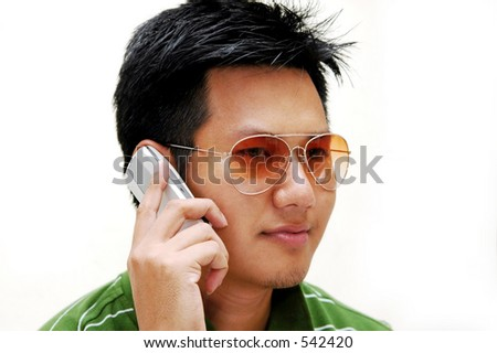 Man talking to cell phone