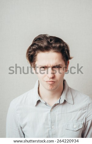man tense and thinking - stock photo
