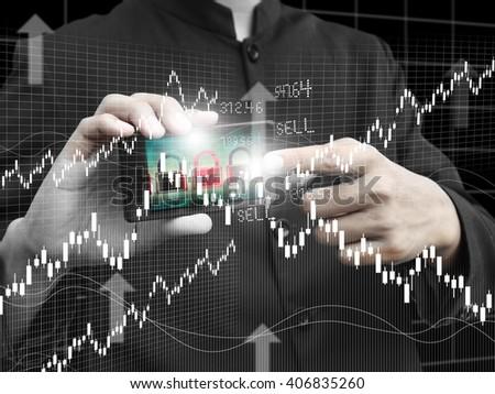 man trade stock - stock photo