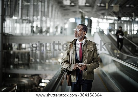 Man Traveling Business Concept. - stock photo