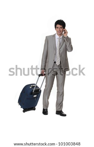Man travelling for business - stock photo