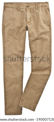 Man trousers isolated on white - stock photo
