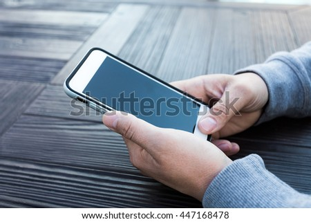 man using a mobile phone - stock photo