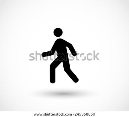 Man walk icon - stock photo