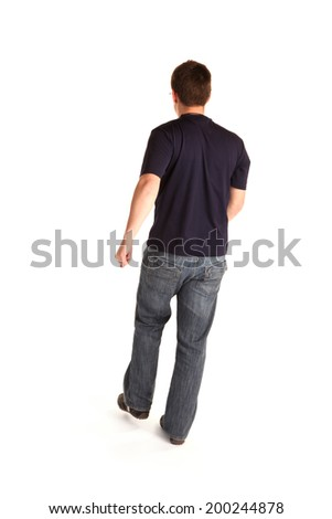 Man walking away - stock photo
