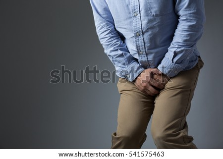 Hold pee bladder crotch