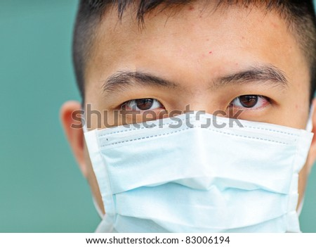 man wear mask - stock photo