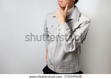 Man wearing work clothes