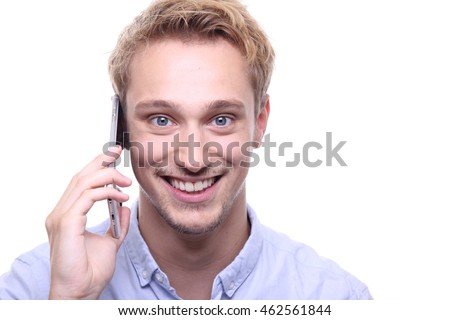 Man with a phone