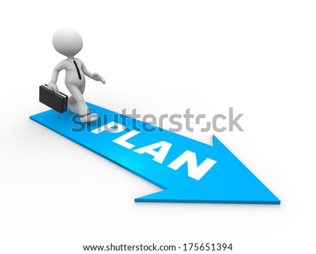 man with a plan - stock photo
