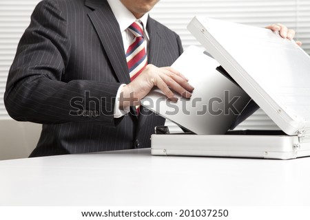 Man with a Tablet PC