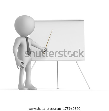 Man with a whiteboard