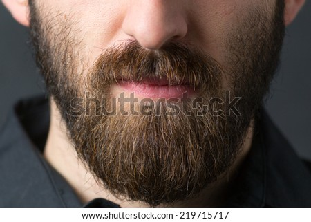 Man with beard. Short deep of field