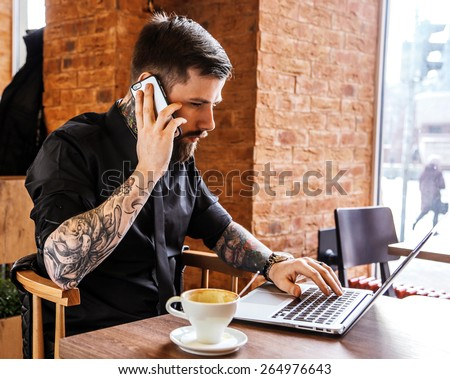 Male tattoo stock images royalty free images vectors for Working man tattoo