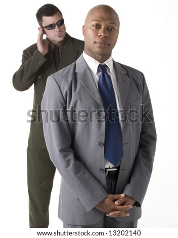 Man with Body Guard