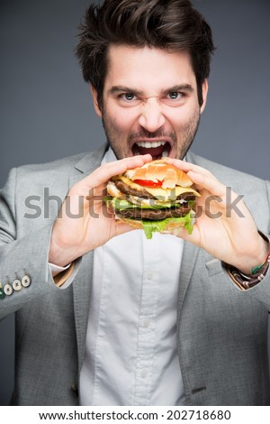 Man with burger