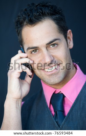 man with cellular phone