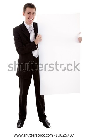 Man with copy space on background