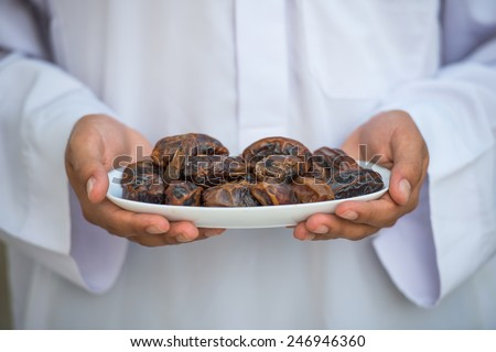 Man with dates - stock photo