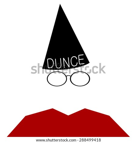 Dunce hat stock images royalty free images vectors for Dunce hat template