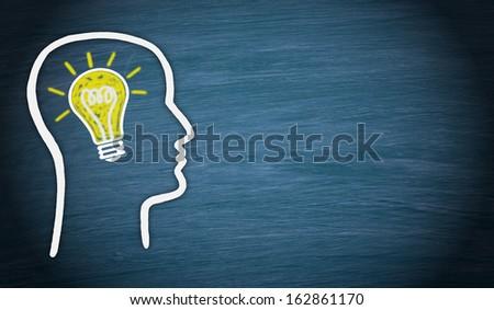 Man with great Idea - stock photo
