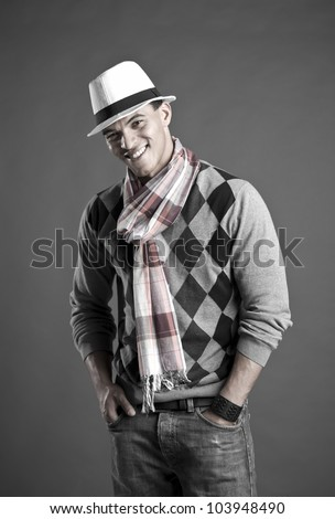Man with hat - stock photo