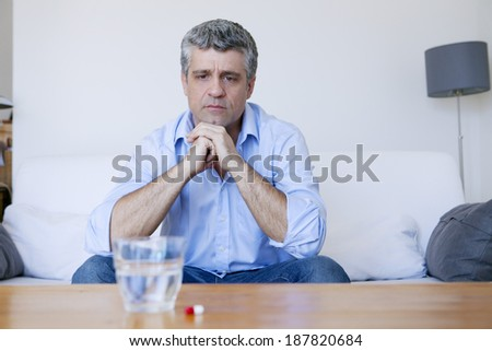 Man With Medication - stock photo
