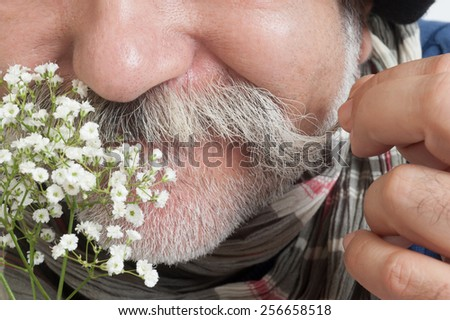 man with mustache - stock photo