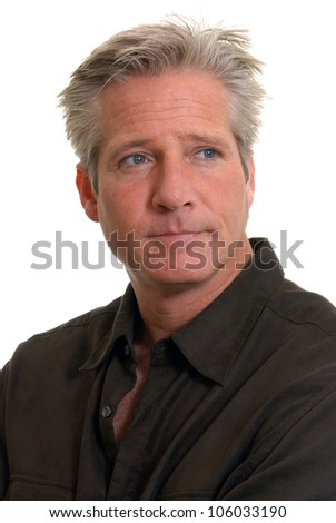 Man with serious expression - stock photo