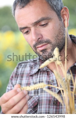 Man with spike - stock photo