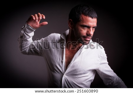 man with strong personality - stock photo