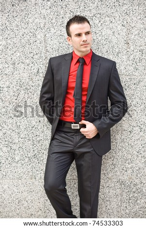 man with stylish suit