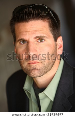 Man with Sunglasses - stock photo