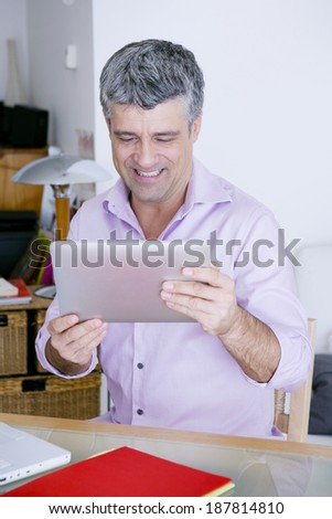 Man With Tablet