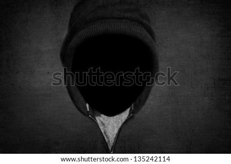 Man without a face - stock photo
