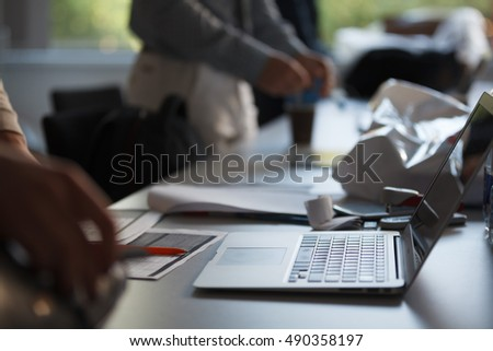 Man Working Laptop Connecting Networking Concept