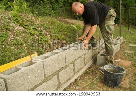 man working on a construction site