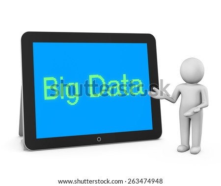 man write big data - stock photo