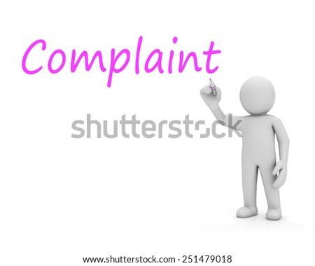man write complaint - stock photo