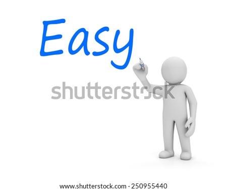 man write easy - stock photo