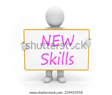 man write new skills - stock photo