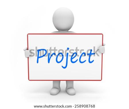 man write project - stock photo