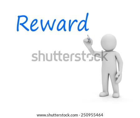 man write reward - stock photo