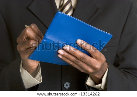 Man Writing Check - stock photo