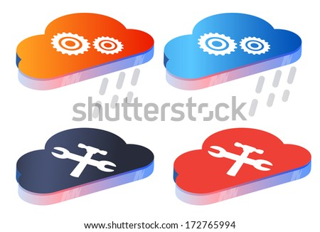 Manage Cloud Data Storage Services - Illustration - stock photo