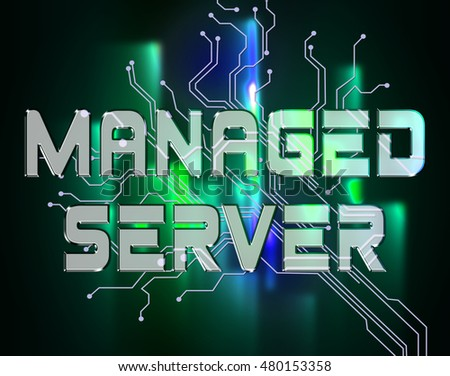 Managed Server Indicating Computer Servers And Connectivity